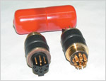 Connector: 4 Pin, 6 Socket, Non-Battery, High Temp (Red) - Wetech Style