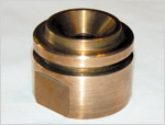 Piston Cap, with Wrench Flats; BeCu-